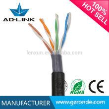Ethernet 24awg bc / cca / ccs cat5 / gato 5e / cat6 / gato 6a / cat 7 utp / stp / sftp Cable de red de datos al aire libre de datos 1000 pies