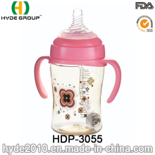 Newly 330ml Customized Plastic Baby Feeding Bottle, BPA Free PPSU Baby Feeding Bottle (HDP-3055)