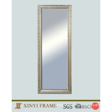 French shabby chic vintage wooden floor mirror
