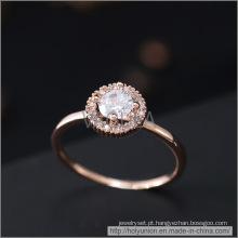 Anel de casamento de ouro VAGULA da forma (Hlr14175)
