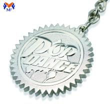 Metal custom embossed logo keychain