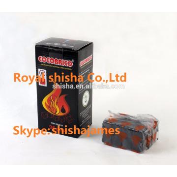 alta calidad cachimba cuadrados coco carbón shisha carbón de coco