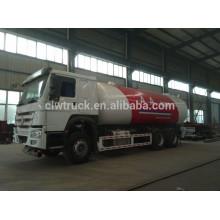 Camión cisterna vendedor caliente del lpg de China, Howo 4 * 2 camión de gasolina del tanque de gas