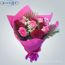 materiales de embalaje de flores tela no tejida papel de envoltura de flores a prueba de agua