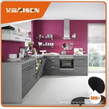 Populaire pour l'armoire de cuisine moderne en placage de placage