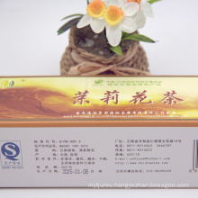 [Wholesale] 100% organic jasmine green tea blocks for weight loss, deep flower fragance health tea