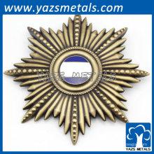 badges archaïstiques couleur bronze