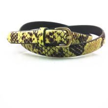 Women's PU belt snake print belt