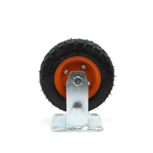 6 inch Heavy Duty Flat Plate Rigid Inflatable Casters and Wheels