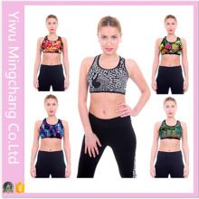 Hot Sale Women Fashion Nylon Printed Sport Yoga Bras