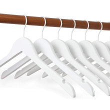 10 pack Elegant high quality White Wood Bridal Dress Hangers