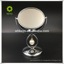espejo de maquillaje de escritorio de la venta caliente espejo de mesa de espejo compacto lindo de la ampliación 3X