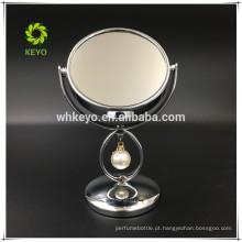 venda quente área de trabalho espelho de maquiagem 3X ampliação bonito espelho de mesa espelho compacto