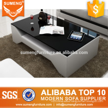 SUMENG furniture simple style wooden center coffee table designs for tv