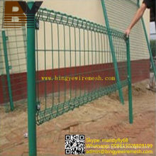 Valla de malla de alambre galvanizada de PVC