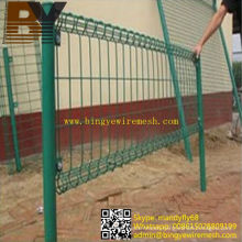 PVC Coated Galvanized Double Circle Wire Mesh Fence