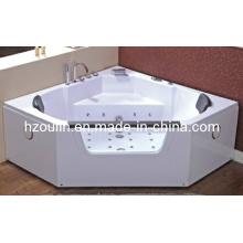 Baignoire de massage hydromassante blanche acrylique de tourbillon (OL-643)