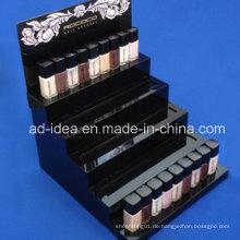 Fünf Tiers Schwarz Acryl Rack Stand / Werbung für Lippenstift
