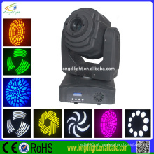 60w led mancha movendo cabeça luz com gobo, prism LED mini movendo cabeça
