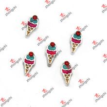 Nuevos encantos flotantes del cono de helado para los niños Locket (FC)