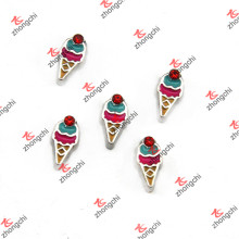 New Ice Cream Cone Floating Charms for Kids Locket (FC)