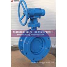 Wcb Double Flange Triple Offset Butterfly Valve