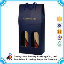 Impresión de la caja del cilindro del vino de papel de cartón corrugado de 6 botellas