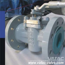 Cast Steel Wcb/Lcb RF Flanged Jacketed Plug Valve
