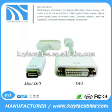Mini DVI para DVI Monitor cabo adaptador para Apple MacBook