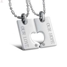 Colgante hueco del corazón de la muestra libre, joyería pendiente del amante, diseño pendiente del amor para siempre