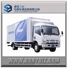 5tons a 10tons 190HP Isuzu 700p 4X2 Cargo Camión Furgón