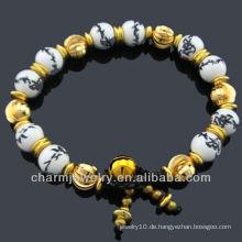 Keramik Schmuck Porzellan Perlen Armband BC-002