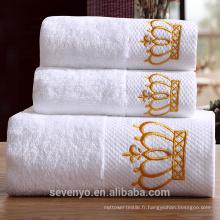 Serviette de bain 100% coton design uni de haute qualité