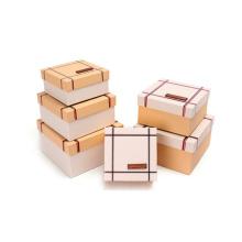 Hot Stamping Nested caixas de embalagem de saco de couro