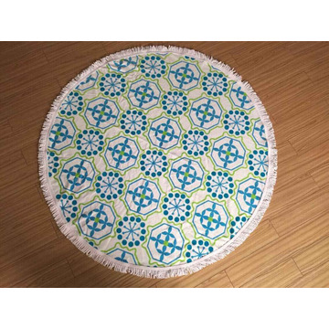 printing 100% cotton 150cm round towels with tassel