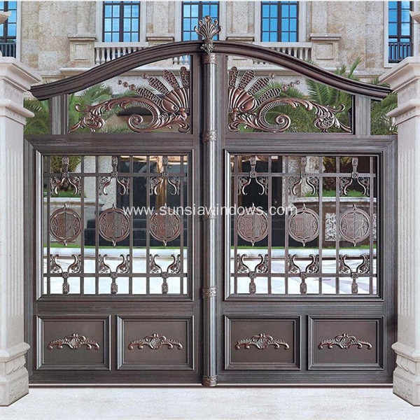 Decorative Cast Aluminum Courtyard Gate For Villa
