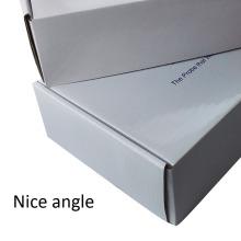 Cut Rectangular Flip Paper White Corrugated Mail Box