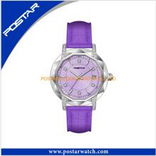 Polygon Shape Fashion Diamond Plated Watch Lady Quartz Watch