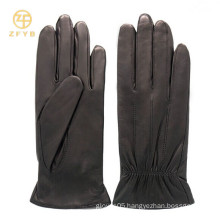 lady dress lampskin short black lather gloves