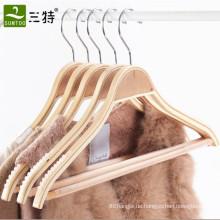 natürliche, platzsparende dünne Kleiderbügel aus Sperrholz
