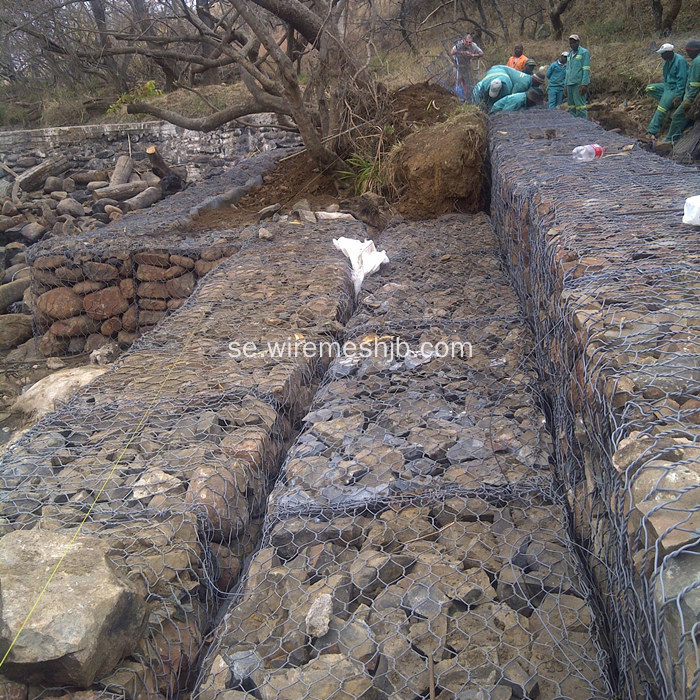 Hot-dip galvaniserad Gabion Box