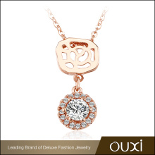 2017 China Manufacture OUXI Fashion Jewelry 18K Pendant Necklace Gold Jewelry Wholesale