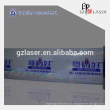 Cinta adhesiva de transferencia de holograma con el logotipo de la marca impresa
