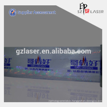 Hologram adhesive transfer tape with brand logo printed