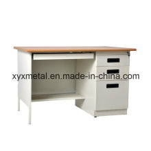 Cheap Durable Steel Modern High Tech Single Sided Drawers One Person Desk