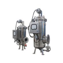 Filtro duradero con autolimpieza de agua con accionamiento eléctrico y mecanismo de limpieza de cepillo giratorio