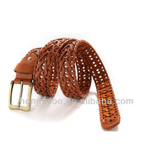 Romantic rural natural style braided leather rope hand-made belt