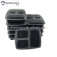 Customized Packaging in Pack of 10 Reuseable Plastic Food Storage Containers 3 compartment food container for wholesale Multiple packaging option : 1. Stacked with lids on the bottom and wrapped with paper belly band that you would design.
