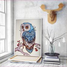 "Full Drill Unique Round Diamond Painting DIY Fancy Shape ""Cute owl""Diamond Rhinestone Mosaic Painting"