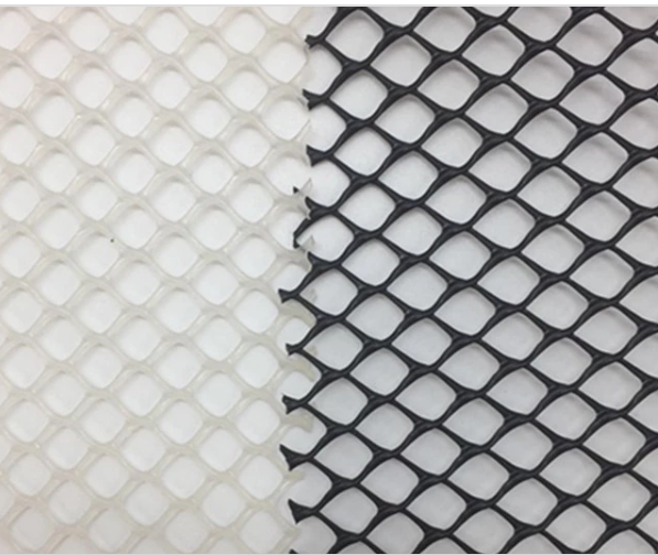Makanan Gred Extruded Hard Plastic Flat Diamond Mesh